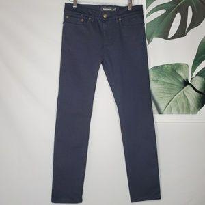 Betabrand Skinny Yoga Jeans Blue Career Pants 27